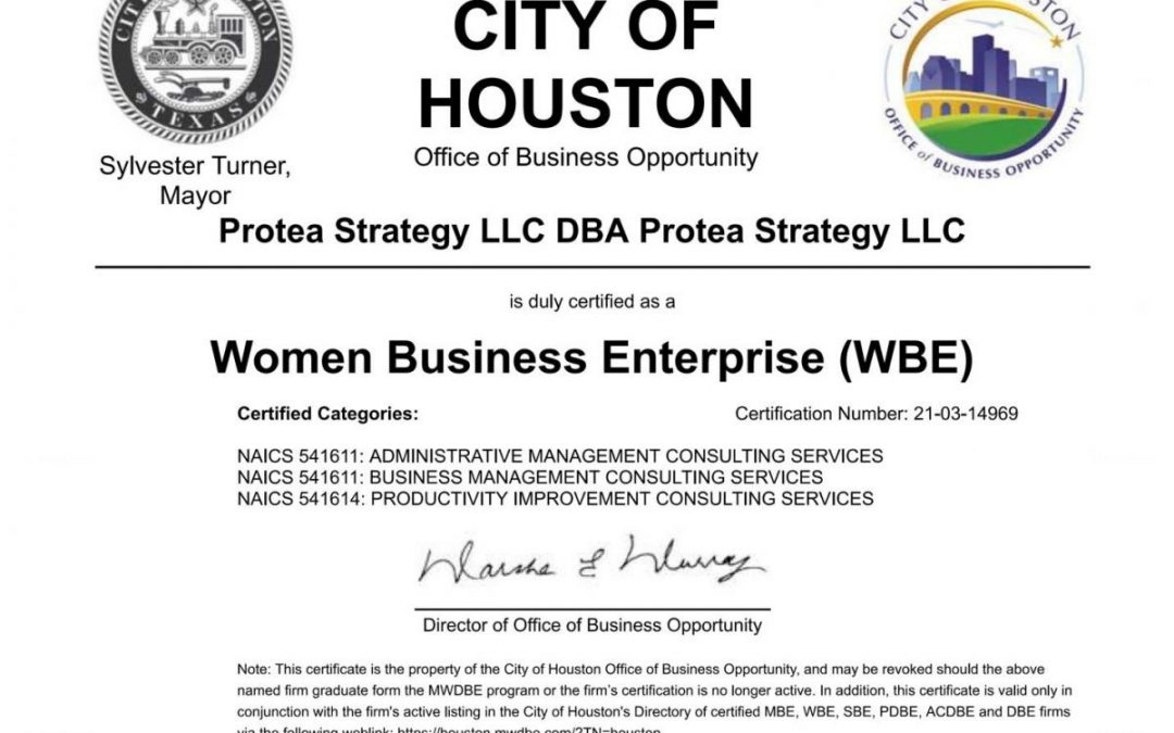 WBE Certification approval
